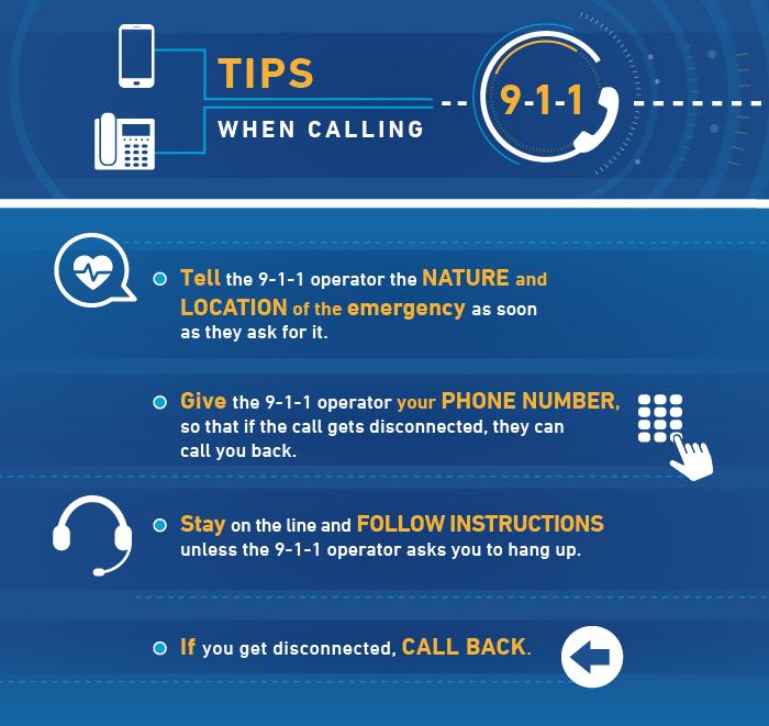 Tips when calling 9-1-1