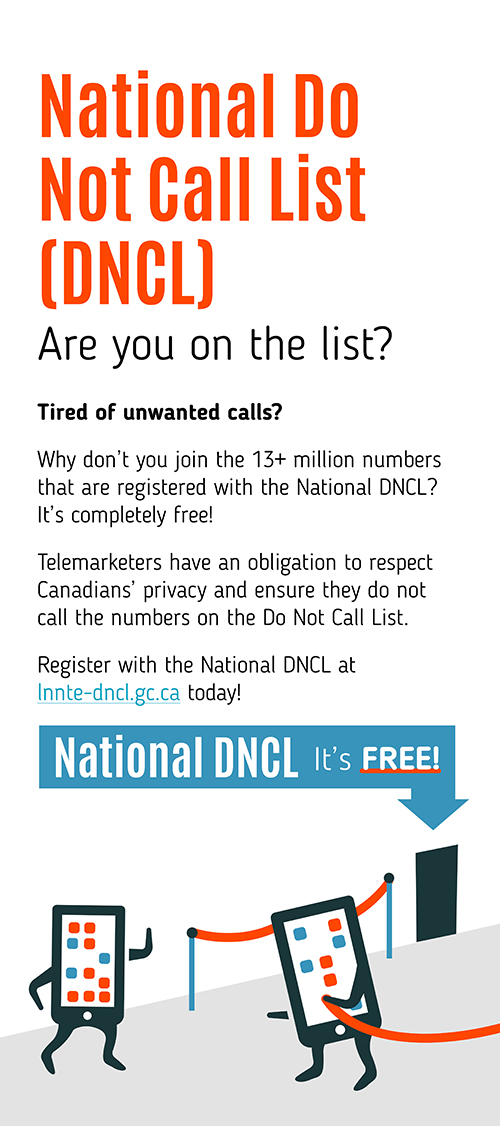National Do Not Call List (DNCL)