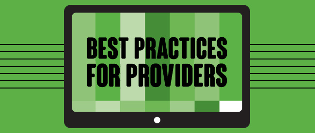 Tab 4: Best practices for providers