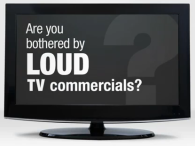 Video on loud TV commercials
